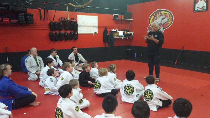 How does martial arts develop rock solid concentration in its participants?